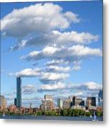 Charles River Cloud Stack Boston Ma Metal Print