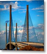 Charles W Cullen Bridge South Approach Metal Print