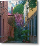 Charleston Alley In The Spring Metal Print