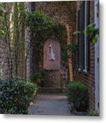 Charleston Brick Alley Metal Print