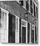 Charleston Brick Homes Metal Print