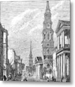 Charleston: Church, 1861 Metal Print