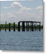 Charleston Export Coal Terminal Wooden Testle Metal Print