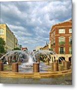 Charleston Fountain Metal Print