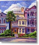 Charleston Houses Metal Print