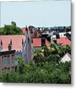 Charleston Rooftops - Queen And Church Streets Metal Print