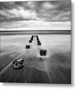 Charleston Sc Folly Beach Seascape Photography Metal Print