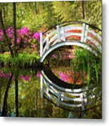 Charleston Sc Magnolia Plantation Spring Blooming Azalea Flowers Garden Metal Print