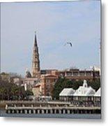 Charleston Skyline Metal Print