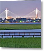 Charleston South Carolina Skyline Metal Print