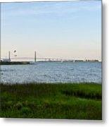 Charleston South Carolina Waterfront Park During Sunset Metal Print