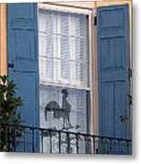 Charleston Weathervane Reflection Metal Print