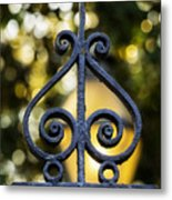Charleston Wrought Iron Metal Print