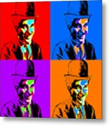 Charlie Chaplin Four 20130212 Metal Print by Wingsdomain Art and Photography