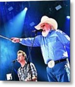 Charlie Daniels On Stage Metal Print