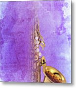 Charlie Parker Saxophone Purple Vintage Poster And Quote, Gift For Musicians Metal Print