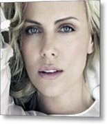 Charlize Theron Blue Eyed Blonde Blouse Celebrity Hollywood 31116 640x960 Metal Print