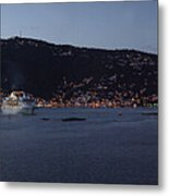Charlotte Amalie At Dusk Metal Print by Gary Lobdell