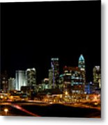 Charlotte Skyline Panoramic Metal Print by Patrick Schneider
