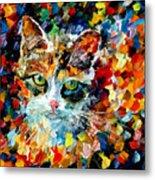 Charming Cat Metal Print