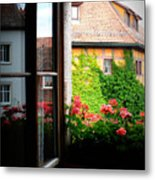 Charming Rothenburg Window Metal Print