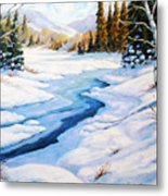 Charming Winter Metal Print