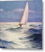 Chas Marer - Sailboat Metal Print by Hawaiian Legacy Archive - Printscapes