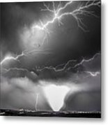 Chasing Nebraska Lightning 052 Metal Print