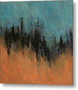 Chasing Stories Abstract Painting Metal Print