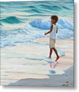 Chasing The Waves Metal Print