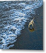 Chasing Waves Metal Print