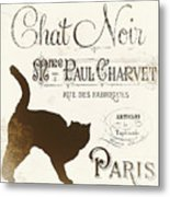 Chat Noir Paris Metal Print