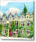 Chateau De Maumont Metal Print by Tilly Strauss