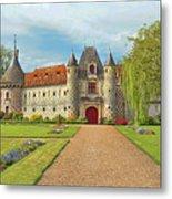 Chateau De Saint-germain-de-livet, Normandy, France Metal Print