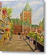 Chateau Frontenac Promenade Quebec City By Prankearts Metal Print