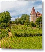 Chateau In A Vineyard Metal Print