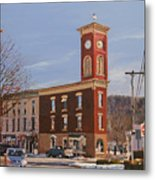 Chatham Clock Tower Metal Print by Kenneth Young