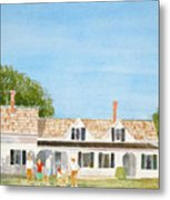 Chatham House Croquet Players Metal Print