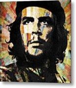 Che Guevara Revolution Gold Metal Print