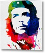 Che Guevara Watercolor 2 Metal Print