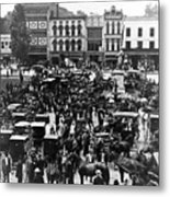 Cheapside Public Square In Lexington - Kentucky - April 7  1920 Metal Print
