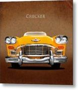 Checker Cab Metal Print