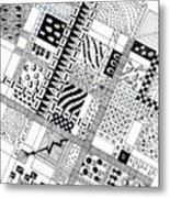 Checkerboard Metal Print