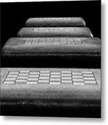 Checkered Steps Metal Print