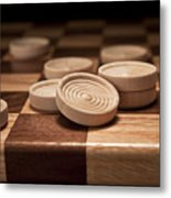 Checkers II Metal Print by Tom Mc Nemar