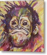 Cheeky Lil' Monkey Metal Print