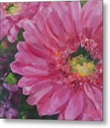 Cheerful Blush Metal Print