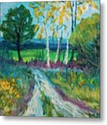 Cheerful Path Metal Print