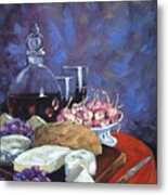 Cheese And Good Wine Metal Print