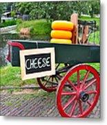 Cheese On A Wagon Metal Print